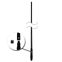 RFI CDQ5000 Black Rugged 5dbi UHF CB Antenna