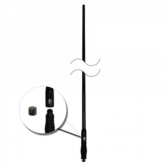 RFI CDQ5000 Black Rugged 5dbi UHF CB Antenna