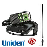 Uniden UH5060 80 CH UHF CB RADIO + AT500BK 5dBi Heavy Duty Antenna  Pack