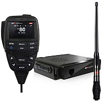 GME XRS370C XRS™ Connect Bluetooth Compact Hideaway UHF CB + AE4704B Antenna